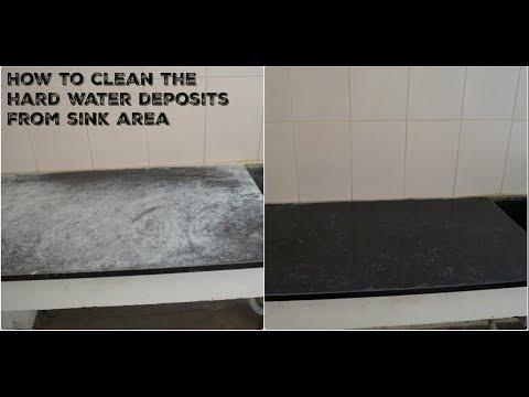 How to clean hard water stains from sink area|Cleaning tips for hard water stains