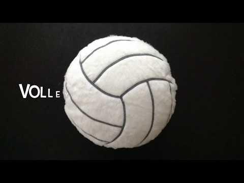 Volleyball Plush Cushion