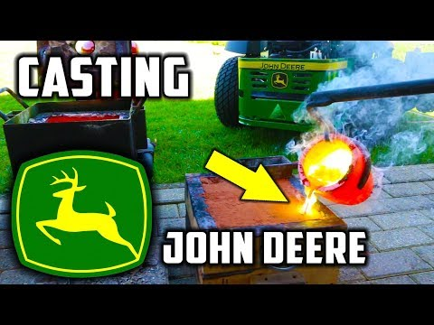 Casting Brass Mirror Polished John Deere Logo