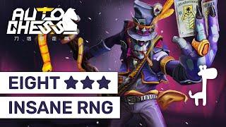 INSANE RNG Dota Auto Chess: EIGHT ★★★ Game!   Fun Challenge Game Replay