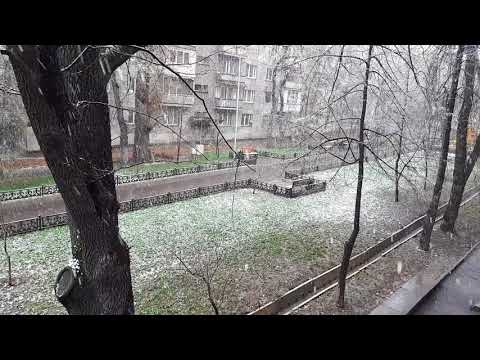 Huge size Snow Fall Almaty ( Big Flakes)