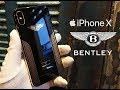 Luxury iPhone X Bentley Gold and Silver Edition