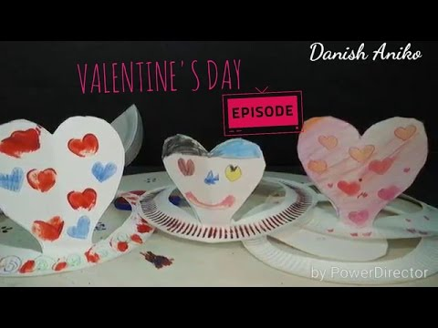 SIMPLE VALENTINE'S DAY PAPER PLATE HAT Craft Ideas For Toddler n Kids | PINTEREST TEST | KID vs PIN