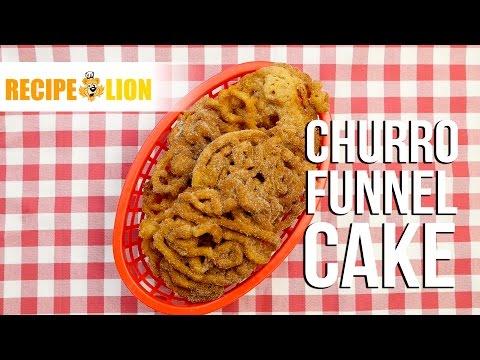 Churro Funnel Cake