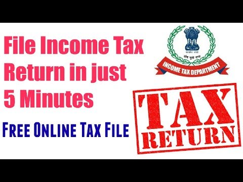 File Income Tax Return online In just 5 minutes | 31st March Last Date