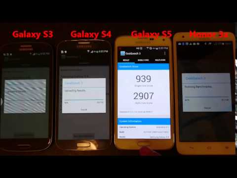 Xperia Z3 vs Galaxy S3 vs S4 vs S5 : Geekbench benchmark Perfomance Test