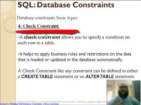 Oracle Check Constraint تعليم اوراكل