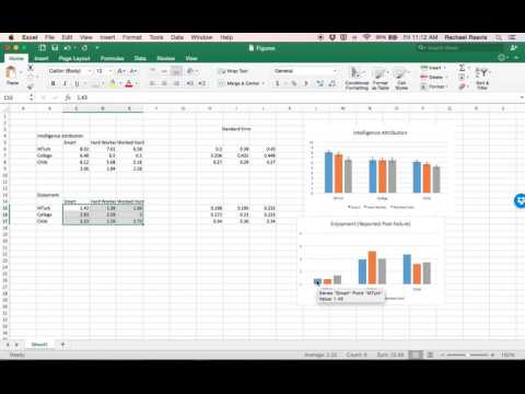 Custom error bar (Standard Error bar) tutorial - Excel 2016 (Mac)
