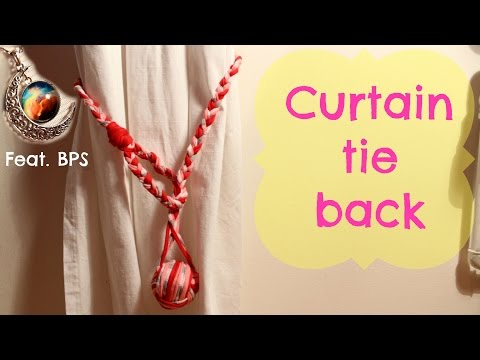 DIY curtain tie back ft. BornPrettyStore moon necklace