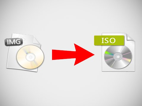 How to Convert file img to iso