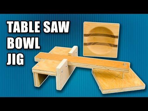 How to a Make Table Saw Bowl Jig - Make a Wood Bowl