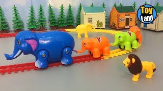 Elephant train toy for children Videos  Kids TRAIN TRACK SET | TOYLAND