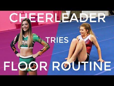 Can a Cheerleader Learn a Gymnastics Floor Routine?