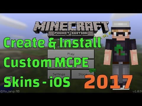 MCPE Skins - Custom Minecraft Skins for iOS (How to Create and Install Your Own!!!)