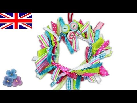 How to Make a Ribbon Wreath DIY 2015 *Christmas Decorations* Homemade Christmas Ornaments Mathie