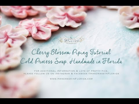 Cold Process Soap Making Cherry Blossom Piping Tutorial