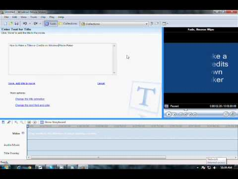How to Make a Titles or Credits on Windows Movie Maker