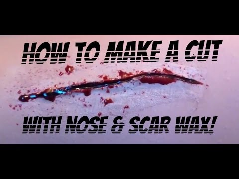 How To Make A Cut W/ Nose & Scar Wax!