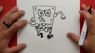 Como dibujar a Bob esponja paso a paso 2 - Bob esponja | How to draw Sponge bob 2 - Sponge bob
