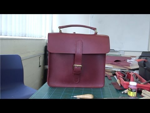 How to make a Ladies Leather Briefcase - Hand Stitched