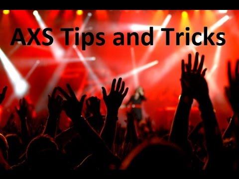 AXS Tips and Tricks | Ticket Crusader