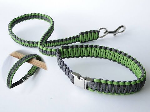 How to Make a Paracord Dog Leash-Release Handle-Buckle Version-Cobra Weave