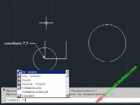 AutoCAD Move and Copy with Coordinate