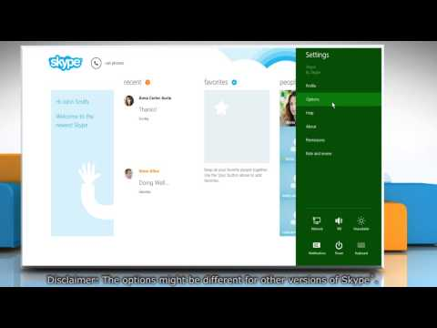 Adjusting sound settings of speaker and microphone in Skype® on a Windows® 8.1 PC