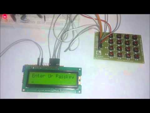 Electronic Code Lock using 8051