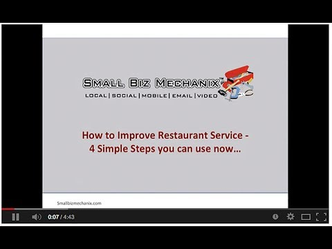 How to Improve Restaurant Service 4 Simple Steps You can Use Now