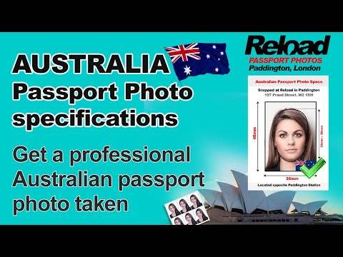Get your Australian Passport Photo and Visa Photo for Australia in London, Paddington