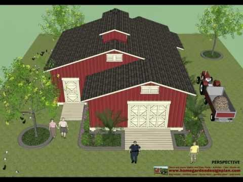 CS100 - Chicken Coop Plans - Garden Shed Plans