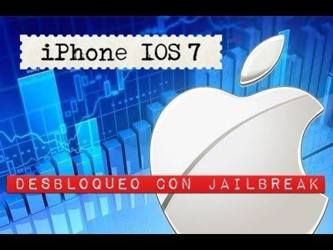 Desbloquear unlock IOS7 iPhone 4 4s 5 5c 5s con Jailbreak gratis y liberar posterior 1parte