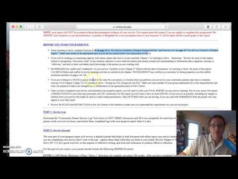 Progress Report Overview & Student Sample