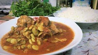 مركة الباكلة الخضراء الطازجة ( الباقلاء ) بطريقة سهله وبسيطة من مطبخ ام علي العراقي