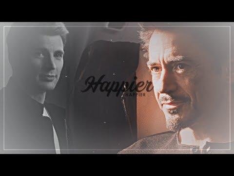 Steve/Tony • you look happier [AU] [+IW]