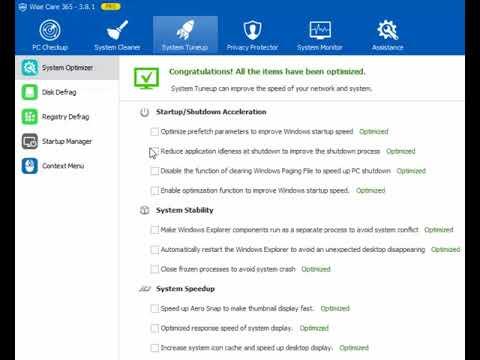 How To Use Context menu Wise Care 365 Urdu Hindi David Yusaf