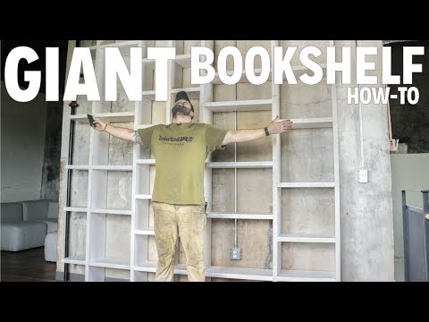 13ft Tall Rolling Ladder Bookcase | Woodworking Madness