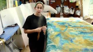 Making Nuno Felt Fabric