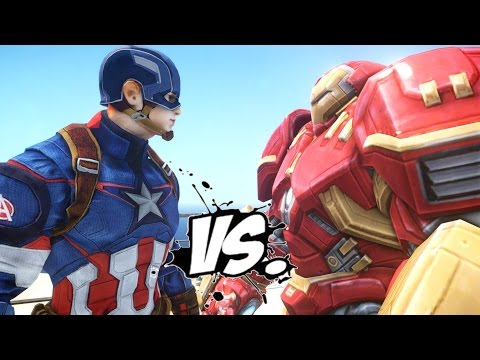 CAPTAIN AMERICA VS HULKBUSTER (Iron Man Mark 44)