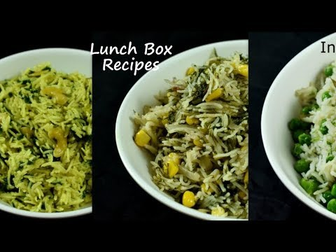 3 Instant rice recipes - for lunch box |3 lunch box rice recipes | kids lunch box ideas