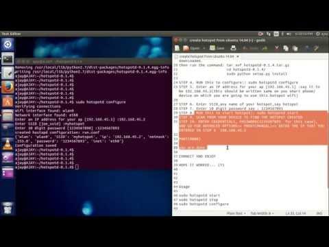 How to create hotspot on Ubuntu 14 04
