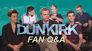 Fan Q\u0026A with Nolan and Dunkirk casts