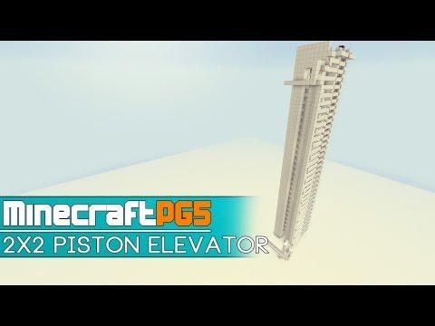 2x2 Car Piston Elevator (up & down) - 1.6.2 Remake - Minecraft