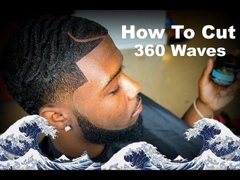 Barber Tutorial: How To Cut 360 Waves With A Part HD* (Paul George)