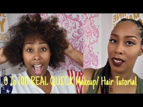 0-100 REAL QUICK| Hair & Makeup feat Jalisia Marie