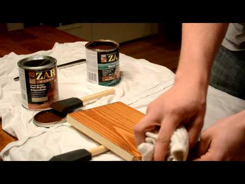 How To Stain Unfinished Furniture!