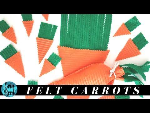 Fun Felt Treat Bags & Mini Carrot Embellishments