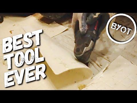 DIY: HOW TO REMOVE VINYL FLOORING (BYOT #28)