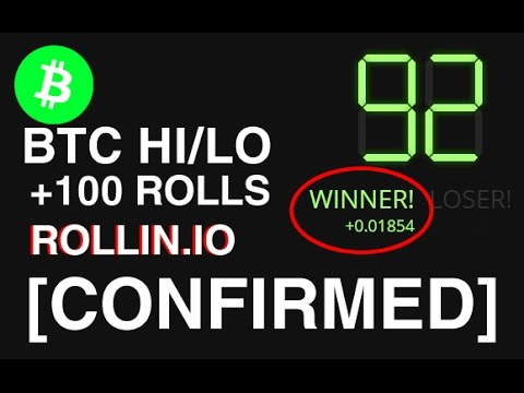 [CONFIRMED] - BITCOIN HI/LO Game Rollin.io actually works, strategy tested - PART 1